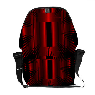 Red Abstract bag Ricksaw Messanger Commuter Bags