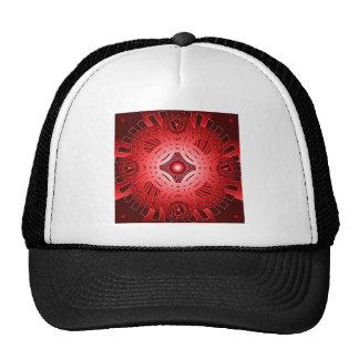 Red Abstract Circles: Mesh Hat
