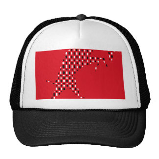 Red abstract design cap