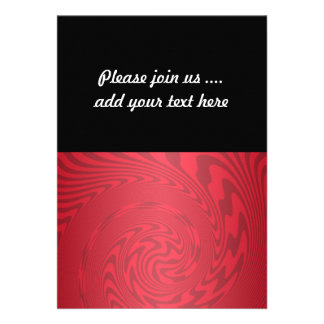 Red Abstract Design Invites