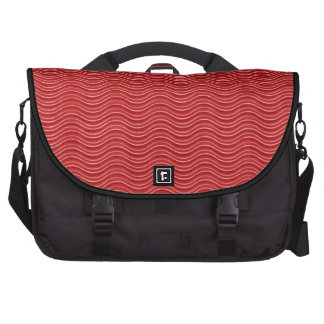 Red Abstract Design Laptop Bag
