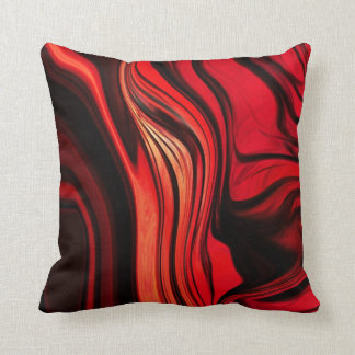 Red Abstract Design Pillow