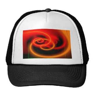 Red Abstract Digital Art Cap