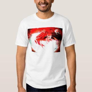 Red Abstract Digital Art Tee Shirt