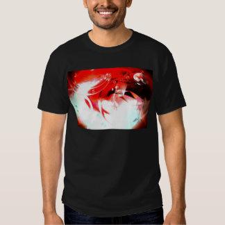 Red Abstract Digital Art Tshirts