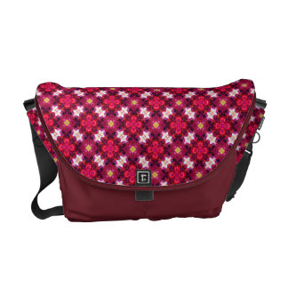 Red Abstract Floral Pattern Commuter Bags
