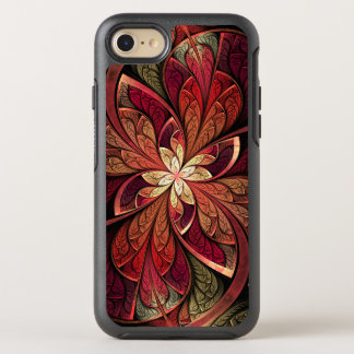 Red Abstract Floral Stained Glass La Chanteuse OtterBox Symmetry iPhone 7 Case