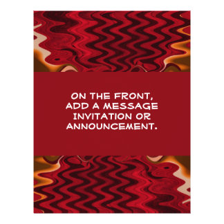 red abstract 21.5 cm x 28 cm flyer