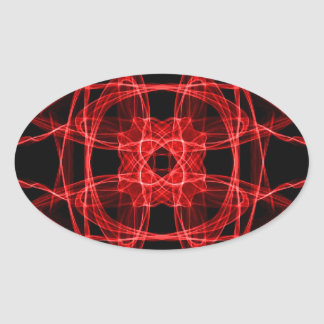 Red Abstract Fractal Stickers