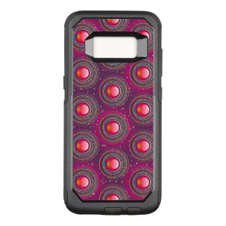 Red abstract glossy Jewels OtterBox Commuter Samsung Galaxy S8 Case