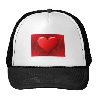 Red Abstract Heart Cap
