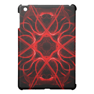 red abstract iPad mini cover