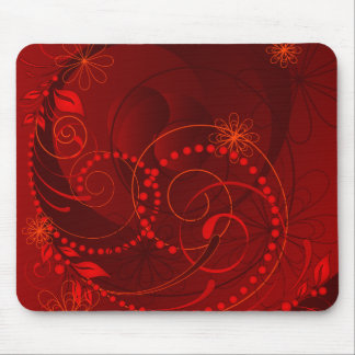 red abstract mouse mat