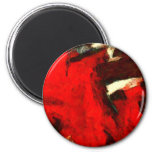 Red Abstract Painting Magnet