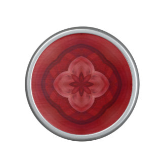Red abstract pattern bluetooth speaker