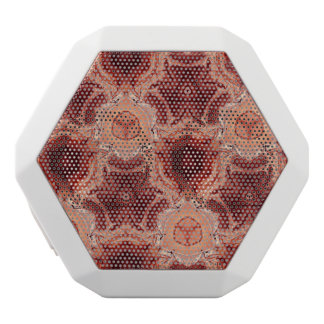 red abstract pattern white boombot rex bluetooth speaker