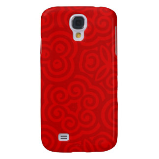 Red Abstract Pattern Galaxy S4 Case