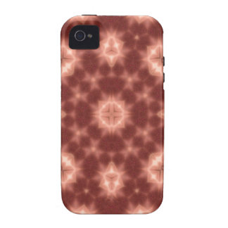 Red abstract pattern iPhone 4/4S case