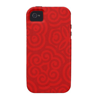Red Abstract Pattern iPhone 4 Covers