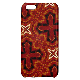 Red abstract pattern iPhone 5C cases