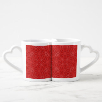 Red abstract pattern lovers mug