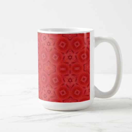 Red abstract pattern coffee mugs