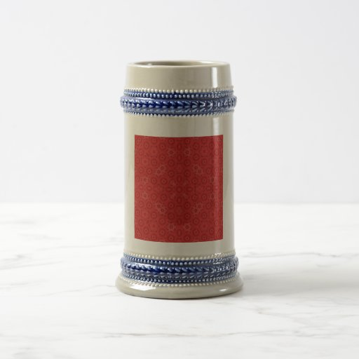 Red abstract pattern mugs