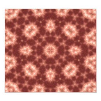 Red Abstract Pattern Photo Art