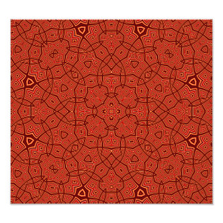 Red Abstract Pattern Photo Print