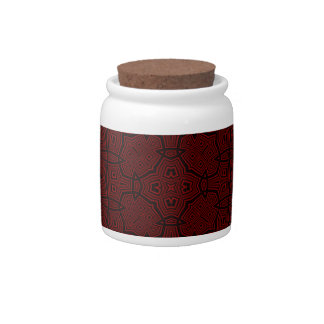 Red abstract pattern candy jars