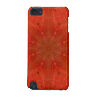 Red abstract pattern wood iPod touch 5G covers