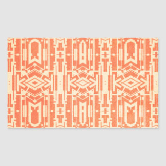 Red abstract rectangular sticker