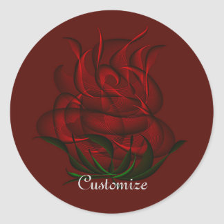 Red Abstract Red Rose Stickers