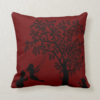 red Abstract Tree kids playing pillow