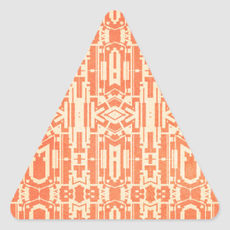 Red abstract triangle sticker
