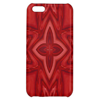 Red abstract wood cross iPhone 5C cover