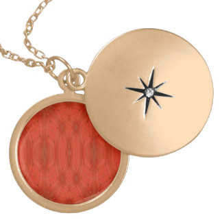 Red abstract wood lockets