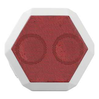 Red abstract wood pattern white boombot rex bluetooth speaker