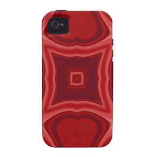 Red abstract wood pattern iPhone 4 covers