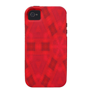Red abstract wood Pattern Case-Mate iPhone 4 Case