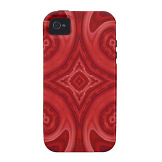 Red abstract wood pattern case for the iPhone 4