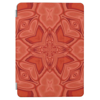 Red abstract wood pattern iPad air cover