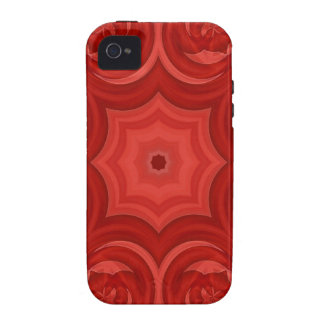 Red abstract wood pattern iPhone 4/4S cases