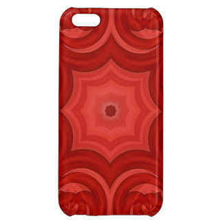 Red abstract wood pattern iPhone 5C covers