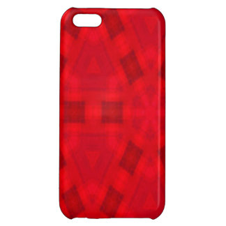 Red abstract wood Pattern iPhone 5C Case