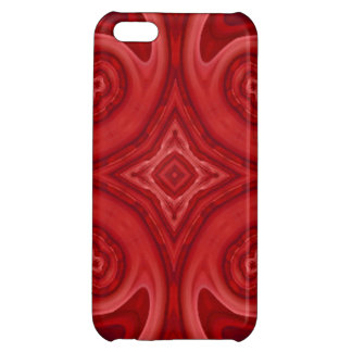 Red abstract wood pattern iPhone 5C cover