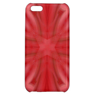 Red abstract wood Pattern Cover For iPhone 5C