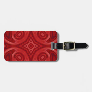 Red abstract wood pattern luggage tag
