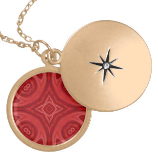 Red abstract wood pattern pendants
