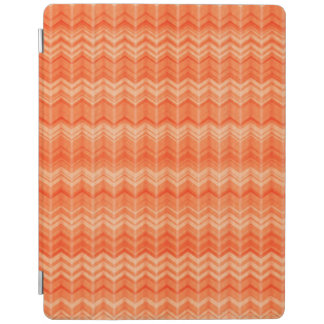 Red abstract zigzag textile pattern iPad cover